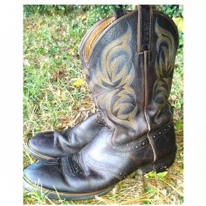 JUSTIN BOOTS MEN'S 10.5 D WESTERN WORK BOOTS